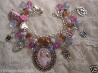 Catholic Virgin Mary QUEEN OF HEAVEN Saints Religious Medals Charm Bracelet