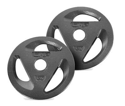 CAP SAME DAY SHIPPING 50 Lb TOTAL Set of 2 Olympic 25lb Weight Plates 1""
