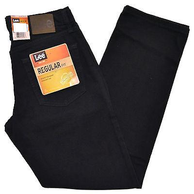 Lee Jeans Double Black Mens Regular Fit Straight Leg Men Classic Fit
