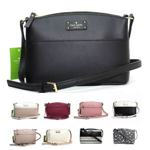Image Is Loading New Kate Spade Millie Grove Street Leather Crossbody