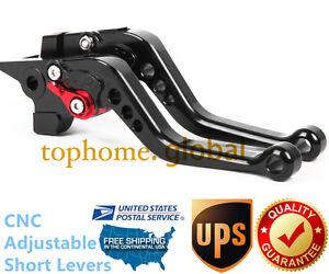 Honda CBR954RR 2002-2003 Short Adjustable Brake /& Clutch CNC Levers Black