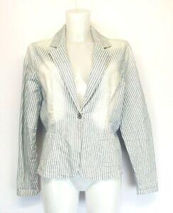 H8) GEISHA Vintage Denim Damen Jacke Blazer Gr. 40 44 46 Neu 79,99€ gestreift