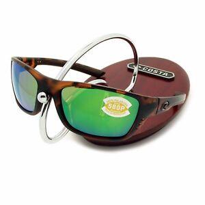 33a4ca0b88 NEW Costa Del Mar WHITETIP Matte Retro Tortoise   580 Green Mirror ...