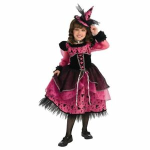 Posh-Fashionista-Fuchsia-Black-Deluxe-Victorian-Witch-Princess-w-Mini-Hat-Rubies