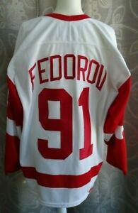 Vintage-Nike-Sergei-Fedorov-Detroit-Red-Wings-White-NHL-Hockey-Jersey-SZ-52-L