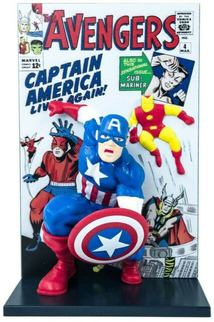 Loot Crate Exclusive - The Avengers 3D Comic Standee -Captain America-April 2019