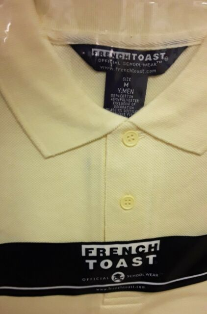 French Toast Toddler Boy/'s Long Sleeve Pique Polo Light Yellow Uniform Shirt
