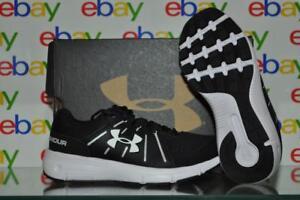 Under Armour Women's Dash RN 2 D Wide Running Shoes 1285980 001 Black NIB