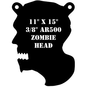 "One AR500 Zombie Head Target 11/"" x 15/"" x 3//8/"" Shooting Practice Undead Walking"
