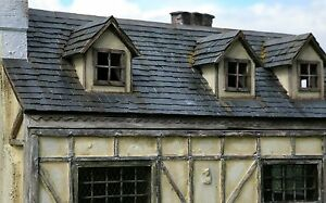 100-1-12th-Scale-Richard-Stacey-REAL-Slate-Miniature-Dolls-House-Roof-Tiles