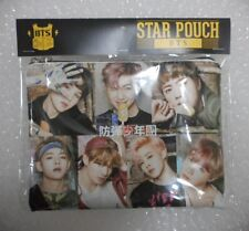 K-POP BTS Bangtan Boys Photo Pencil Case Cosmetic Pouch Make Up Korea Gift