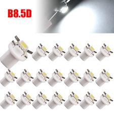 100x White B8.5D 1SMD 5050 T5 Instrument Panel LED Gauge Cluster Indicator Light