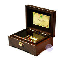 """Play """"Canon in D Major"""" 23 Note Wooden Music Box With Sankyo Musical Movement"""