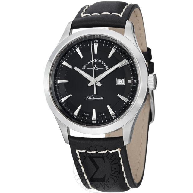 Zeno Men's Gentlemen Black Dial Black Leather Strap Automatic Watch 6662-2824-G1