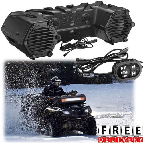 ATV Bluetooth Terrain Speaker Boss 700W Sound System UTV Boat Jet Ski Light Bar