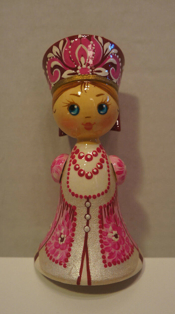 Russian Matryoshka - Handmade Linden Linden Linden Wood Doll Small  14 be1739