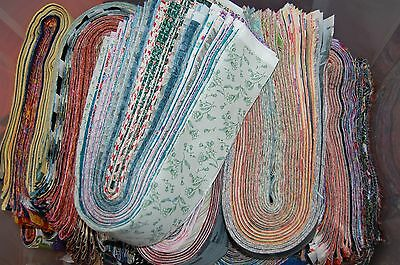 "Lot#b of 40-2.5"" MIXED colors, strips, jelly roll, quilt, cotton fabric-grab bag"