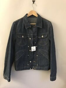 Moschino Jacket Medium Size44 Nouveau Rare Trucker Stitch Logo Pour Denim Deadstock wrE1qr