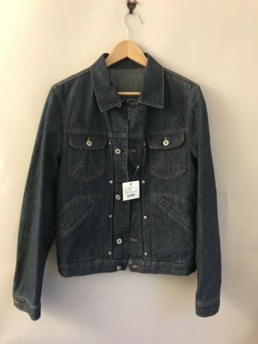 Size44 Trucker Nouveau Jacket Logo Rare Medium Stitch Deadstock Denim Moschino Pour RwZSqcAUBw