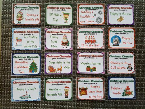 Natale SCIARADA Famiglia Natale Gioco Attività Divertente per natale party game