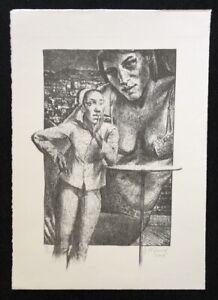 Johannes duwe, Ohne Titel, litografia, 2001, a mano firmata e datata