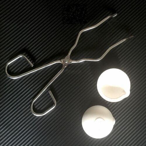 2pcs Smelting Bowl Dish 150g Crucible Melting 35cm Crucible Tongs #M2773 QL YH