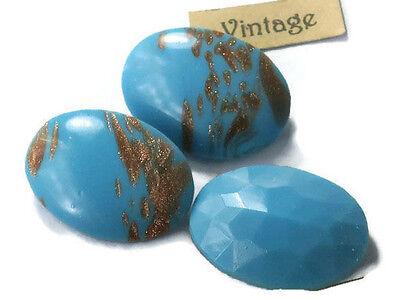 Vintage Glass Cabochons Amethyst Smooth 12x10mm Oval NOS Flat Bottom #1206B