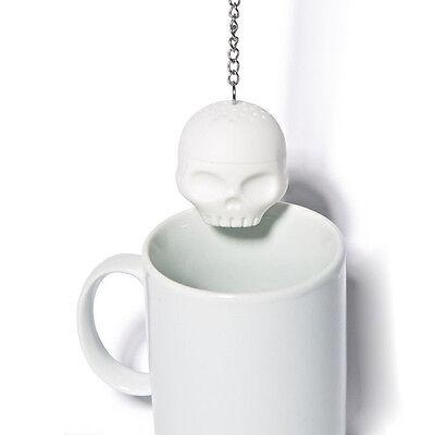 TOP  T-Bones Tea Bones Skull Tea Infuser Loose Leaf Leaves Silicone Tea Strainer