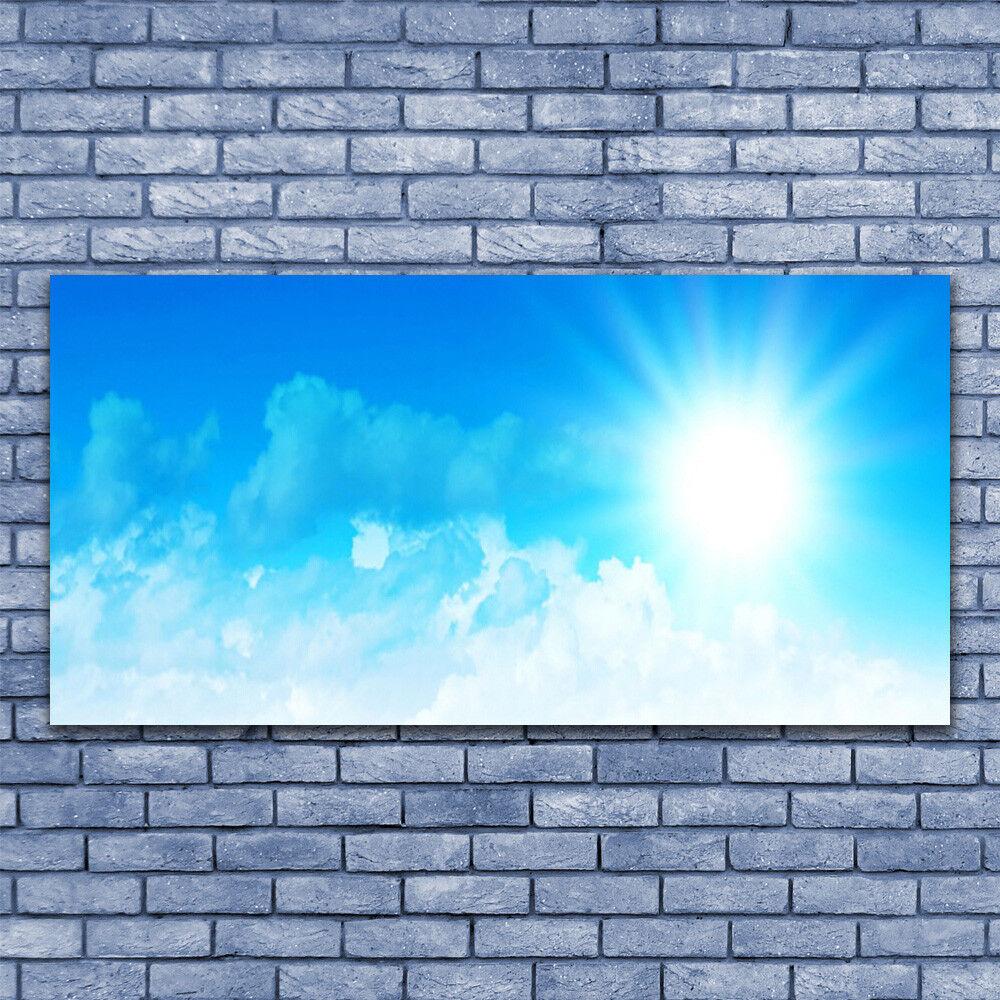 Print on Glass Wall art 140x70 Picture Image Sun Heaven Landscape