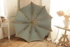 Shepherd's umbrella Antique French parasol Indigo blue vintage textile old