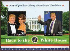 2016 ~ LIBERIA ~ DONALD TRUMP ~STAMPS  AND SOUVENIR SHEET