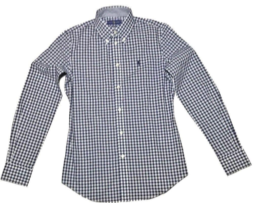 Ralph Lauren Woherren long sleeve Poplin Navy Blau shirts