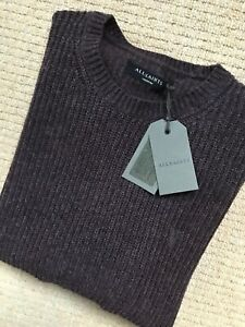 ALL-SAINTS-DAMSON-RED-034-LYMORE-034-CREW-WOOL-JUMPER-SWEATSHIRT-TOP-S-M-L-NEW-TAGS