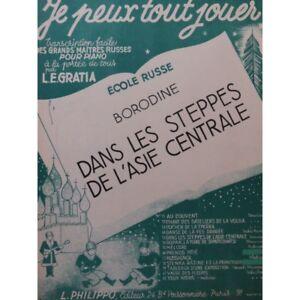 Borodin Alexandre In Die Steppen Piano 1953 Partitur Sheet Music Score Dinge FüR Die Menschen Bequem Machen Musikinstrumente