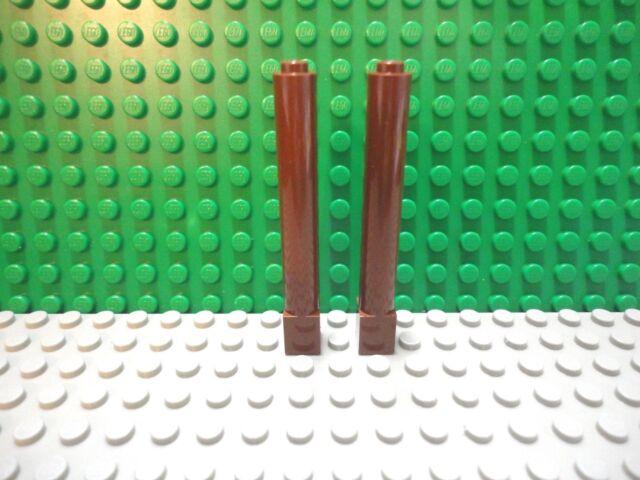 Lego 100 New Dark Brown Plates 1 x 2 Dot Building Blocks Pieces