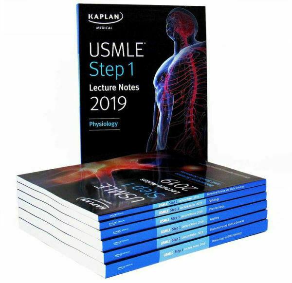 USMLE Step 1 Lecture Notes 2019 Kaplan Test Prep 7 Paperback Book Set for  sale online | eBay