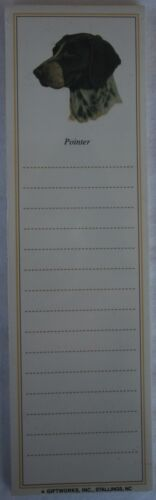 New POINTER Dog Magnetic NOTEPAD Note List Pad