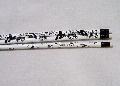 24 PANDA BEAR Personalized Pencils