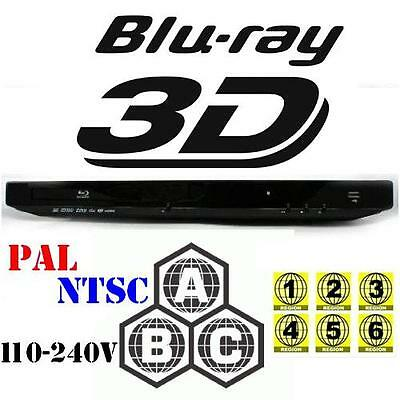 All Multi Zone Code Region Free 2D/3D Blu Ray Player A B C 1 2 3 4 5 6 DVD New