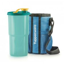 Tupperware Thirstquake Tumbler Baby Blue with Pouch, 30 oz, 2 sets RARE, Express