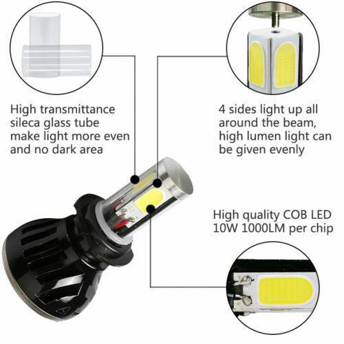 Pair 5202//H16 G5 80W 8000LM LED Headlight Bulb Conversion Kit Beam Fog Light