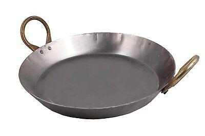 Cast Iron Black Cooking Wok Pre Seasoned Kadai With Handle 1 Lt 9 inch Diameter