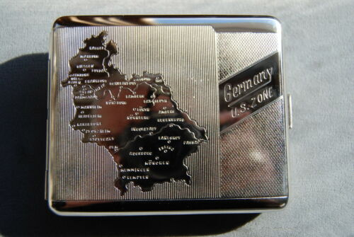 Hansaware WW2 Map of Germany 1946 Historic Collector/'s Case Made in Germany