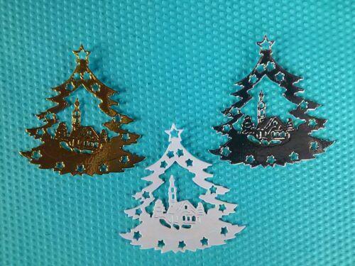 12 x Stanzteile Weihnachten Kartenaufleger Kartenschmuck Scrapbooking Basteln