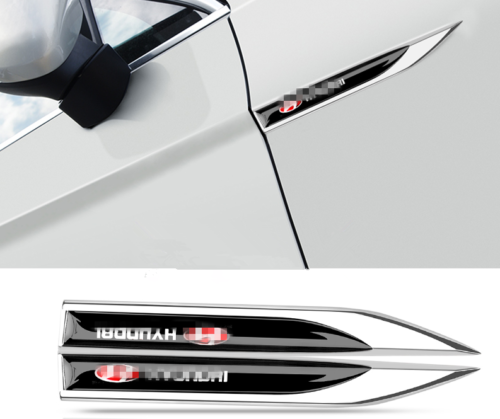 2pcs FOR Hyundai Tucson Metal Chrome Car SideImpact Bars Badge Trim 2015-2018