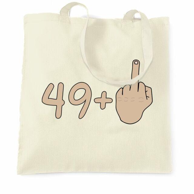 40th Birthday Tote Bag 39 plus 1 gesture Rude Middle Finger Age Joke
