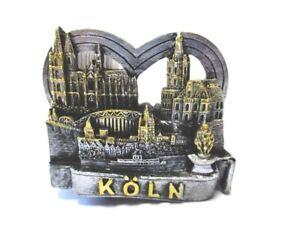 Koeln-Magnet-Dom-Rhein-Deutzer-Bruecke-Souvenir-Germany-Herzform