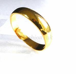 New Wedding 24K Yellow Gold Plated Vintage Ring Open Size NOPQRSTUVWXY Men Women