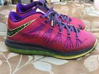 Nike Air Max LeBron X Low Raspberry 579765-601 Basketball Shoes Sz 9 (Some Wear)