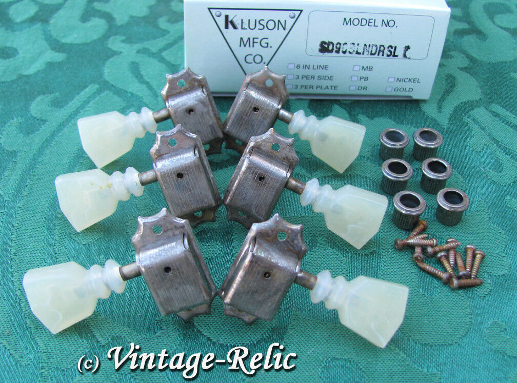 Aged Kluson nickel tuners RELIC'D fit Gibson Historic Les Paul 335 SD90SLNDRSL
